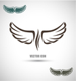 Label with wings vector image