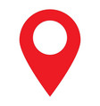 location pin icon on white background location vector image