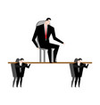 office clerk carrying boss corporate ethics vector image
