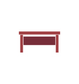 Office table Icon vector image