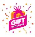 logo gift vector image