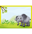 An elephant playing in the field vector image