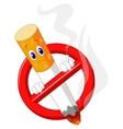 No smoking cartoon symbol vector image vector image