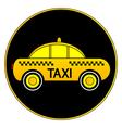 Taxi car button vector image vector image