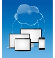 Cloud Computing Business Concept vector image vector image