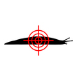 Aim at slugs vector image