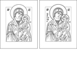 Odigitria vector image vector image