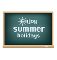 blackboard enjoy summer holidays vector image vector image