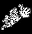 Baseball Player Kid cartoon vector image