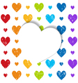 a white paper heart vector image