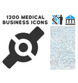 artificial joint icon with 1300 medical business vector image