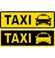 black and yellow taxi sign vector image