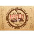 Bon Appetit Kraft vector image