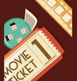 movie ticket design vector image