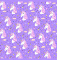 seamless pattern of hand drawn unicorns vector image