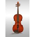 Wooden violin on gray vector image