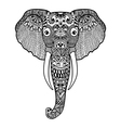 Zentangle stylized Elephant Hand Drawn lace vector image