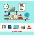 School Books Concept vector image vector image