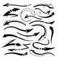 graffiti arrows set vector image vector image
