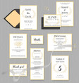 wedding stationery collection set of vector image