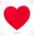Red acrylic color textured painted heart vector image