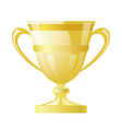 Gold cup on white background vector image vector image