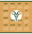 Year of the goat 2015 calendar vector image vector image