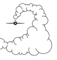Plane in the Sky in the Clouds vector image