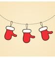 mittens of Santa Claus Design Christmas vector image