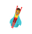 afro american boy character dressed as a super vector image