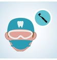 Dental care design health concept medical care vector image