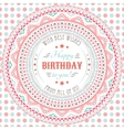 Funny cute happy birthday card Typography letters vector image