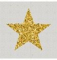 Gold glittering stars confetti vector image