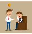 men treat ment spychology idea design vector image