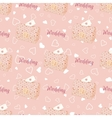pink wedding seamless pattern with chest vector image