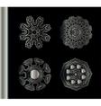 Set of Ethnic Fractal Mandala vector image