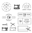 Set of vintage tailor design elements vector image
