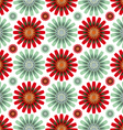 The pattern bright flowers vector image
