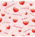 pink floral seamless texture with hearts vector image