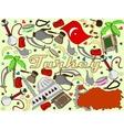 Turkey line art design vector image