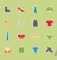 clothes simply icons vector image