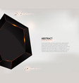 abstract black geometric shape background vector image vector image