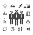 business team management icons vector image