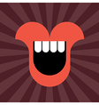 smiling mouth vector image vector image
