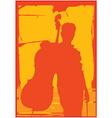 man cello vector image