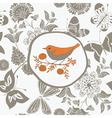 pastel birds print vector image