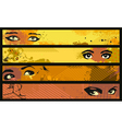 Banner Set Eye vector image