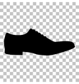 Men Shoes sign Flat style black icon on vector image