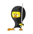 cartoon ninja chick vector image