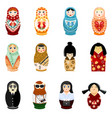 doll matryoshka matrioshka russian toy vector image
